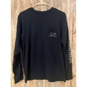 Vineyard Vines Navy Blue Long Sleeve T-shirt